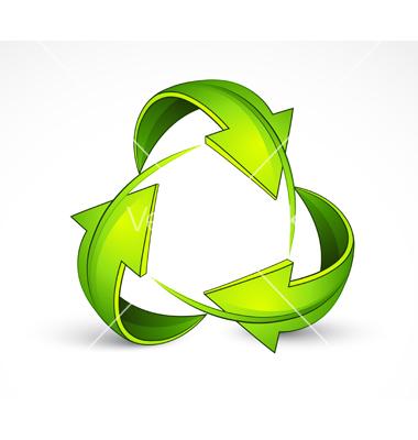 Green Recycling Symbol Vector Drurys Environmental Services